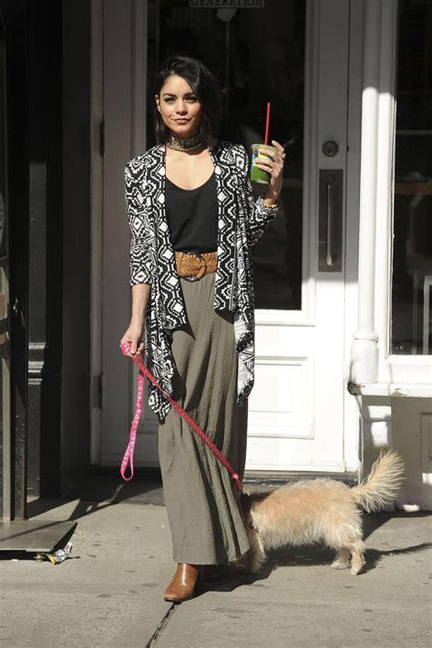 Vanessa Hudgens Walks Her Dog in Soho, New York City ...