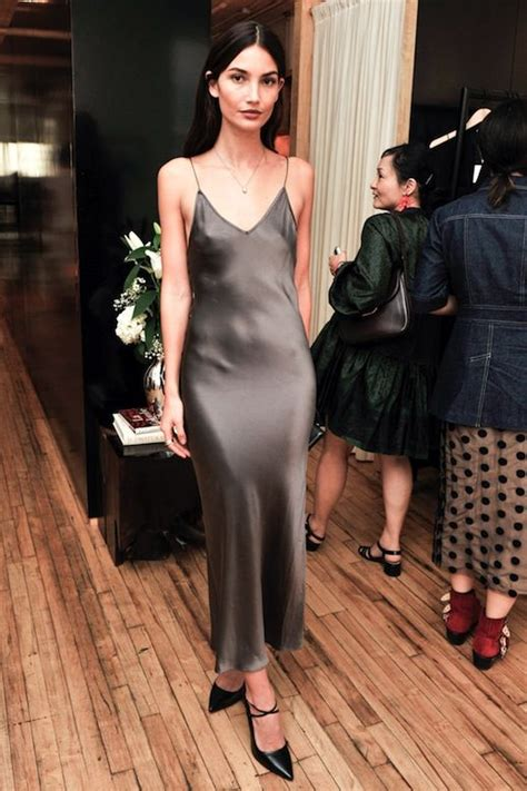 foto de A Model Approved Way To Wear A Silk Slip Dress To A Party