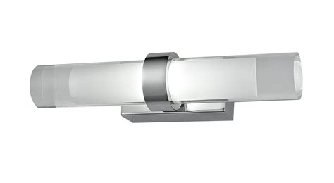 city range led wall light 6w 3000k satin chrome romeg2