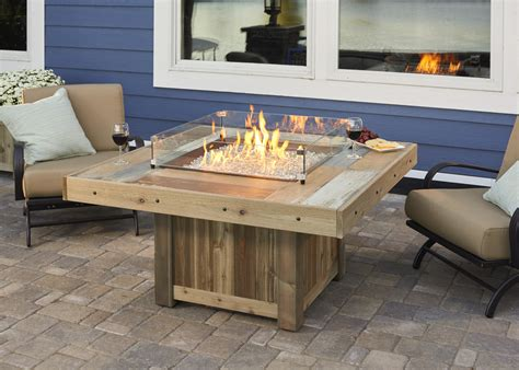 outdoor gas fireplace table vintage fire pit table from wissota outdoor living