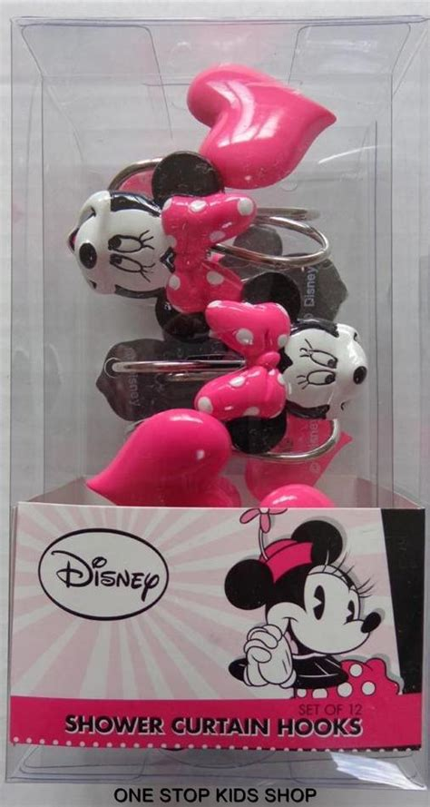 Disney Bathroom Accessories Uk by Minnie Mouse Fabric Shower Curtain Or Hooks Disney