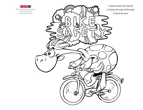 Fresh Bike Helmet Coloring Page Fun With The Dot