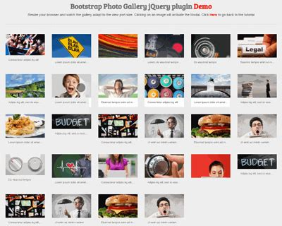 Bootstrap Gallery Bootstrap Photo Gallery Html