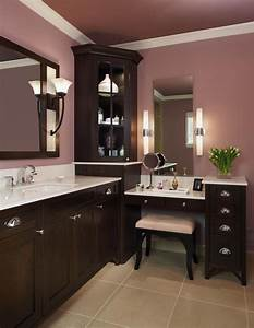 Corner Vanity Cabinet Bathroom Traditional With Cabinetry