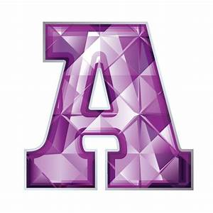 Purple M&M Clip Art | jewel letter A 01 Purple Jeweled ...