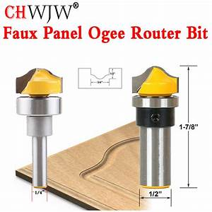 "1pcs Faux Panel Ogee Router Bit C3 Carbide Tipped 1/4"" 1/2"