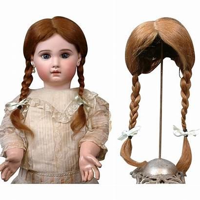 Doll Hair Schoolgirl Wig Antique Braids Human