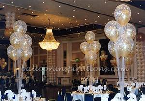 Wedding balloon decorations - Ivory and Gold balloons