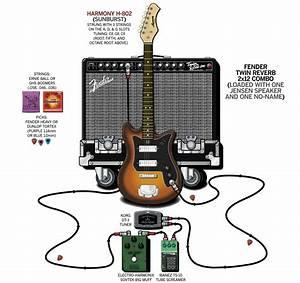 A Detailed Gear Diagram Of Dave Dederer U0026 39 S The Presidents