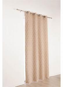 Rideau En Lin Blanc : rideau fantaisie en lin dessins flamand avec oeillets ~ Melissatoandfro.com Idées de Décoration