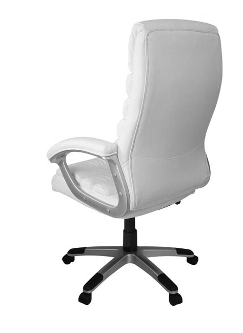 amstyle executive office chair faux leather white desk