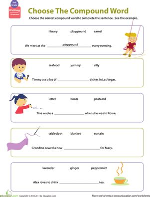 compound word worksheets 2nd grade education get