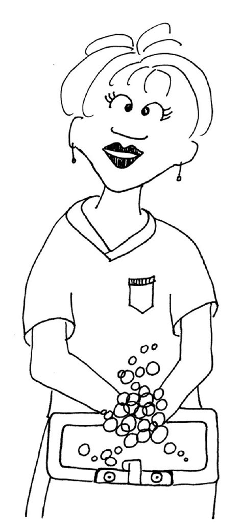 Scrub Hands Coloring Page Image Clipart Images Grig3org