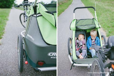 fahrradanhänger für 2 kinder babysitz croozer kid for 1 2 ab modell 2010 mwd