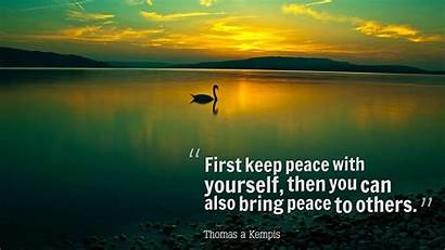 Peace Peaceful Quotes Keep Yourself Nature Sleep