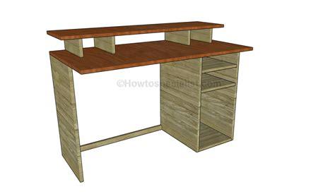 office desk plans howtospecialist   build step  step diy plans