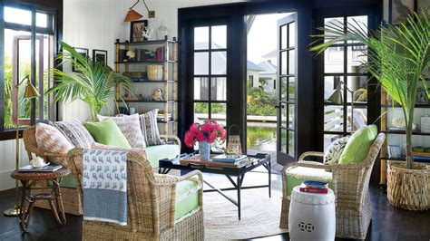 House Inspired Showhouse Ideas by 48 Beautiful Beachy Living Rooms Coastal Living