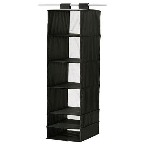 sweater storage skubb storage with 6 compartments black 35x45x125 cm ikea