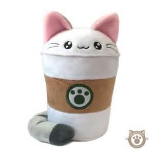 cat plushie purrista pawfee medium size coffee kitty cat plush