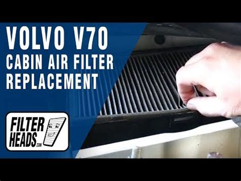 cabin air filter replacement volvo  youtube
