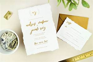 diy deckled edge paper wedding invitations cards With wedding invitations heavy paper