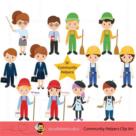 Community Helpers Clipart Community Clipartcareer Day