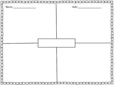 four square writing template 4 square writing freebie kickin it in kindergarten