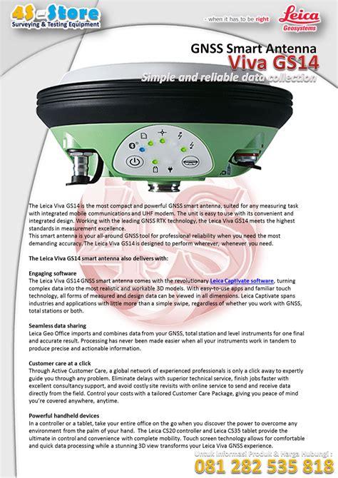 leica viva antenna produk gnss gps harga jual trimble second station total geosystem geo target murah testing