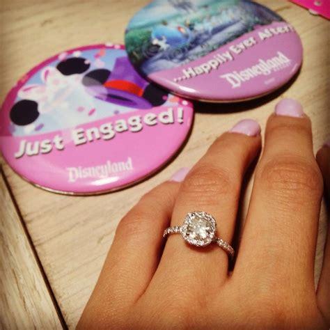 disneyland diamond engagement ring cushion cut wedding