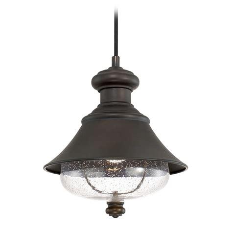 Seeded Glass Minipendant Light Bronze Capital Lighting