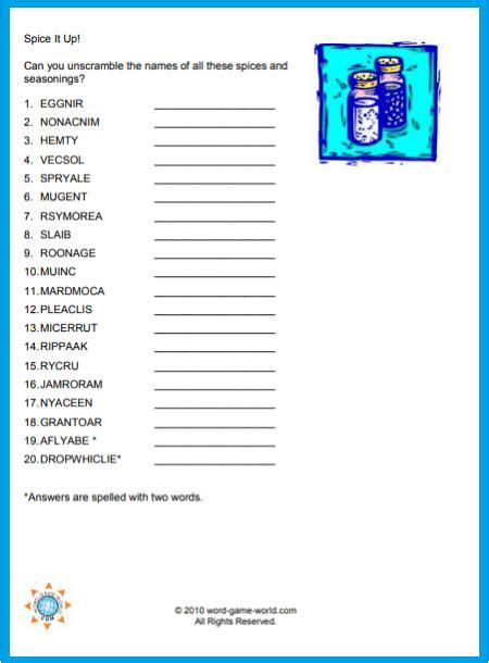Large print free printable jumble puzzles printable. Fun Printable Word Scramble | Jumbled words, Scramble words, Printable word games