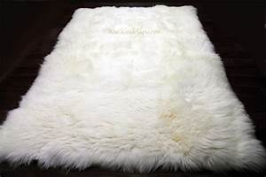 Tapis Poil Long Blanc : tapis peau de mouton 170cmx230cm blanc naturel uk ~ Dailycaller-alerts.com Idées de Décoration
