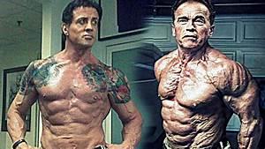 Arnold Schwarzenegger  U0026 Sylvester Stallone Training At 70 Years Old