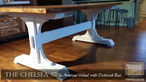 ana white double pedestal farmhouse dining table diy