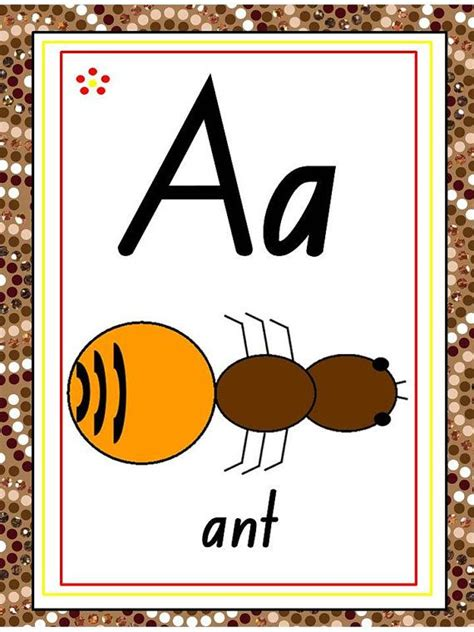 aboriginal abc chart flash cards letter tracing