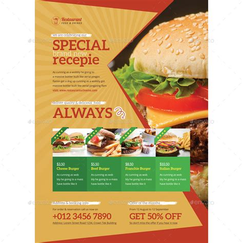 cuisine promotion food promotion flyer ads by samiul75 graphicriver