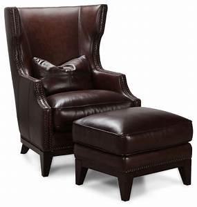 simon li antique espresso leather accent chair and ottoman With simon vintage furniture home goods