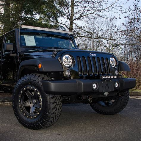 jeep halo lights projector headlights with led halo ring jkowners