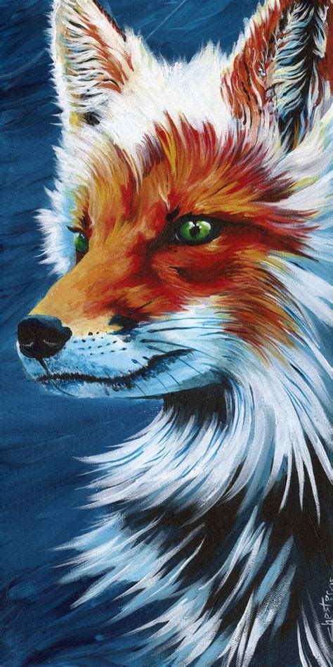 Canvas Fox Print Vulpes Difficult Put Into