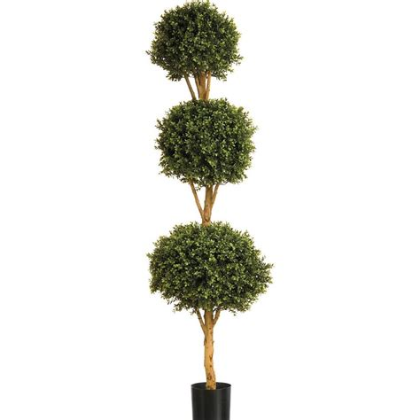 Artificial Boxwood Ball Topiary Plants, Outdoor Buxus