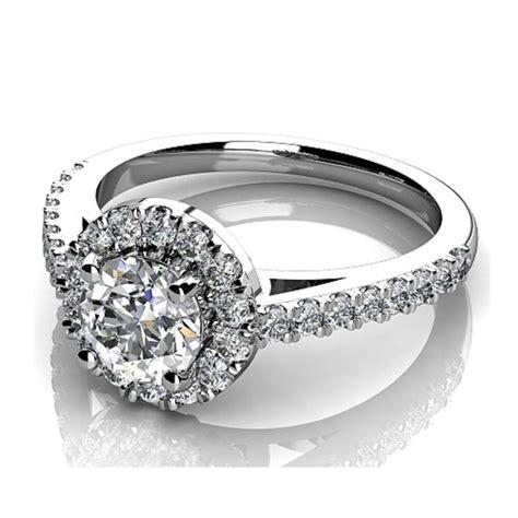 clearance platinum f 0 75ct halo engagement ring ebay