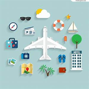 4-Designer | Exquisite design vacation travel icon vector ...