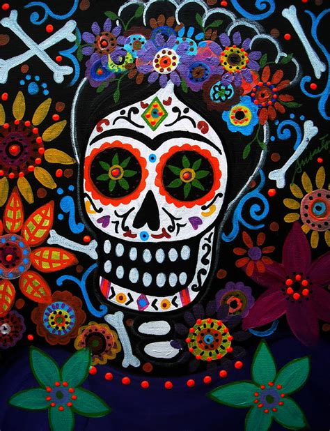 Day Of The Dead Frida Kahlo Painting By Pristine Cartera