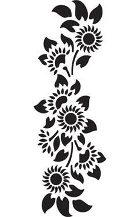 girasoles stencils simple flower drawing wall art