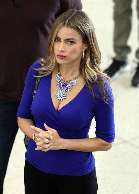 sofia vergara in tights shooting modern family at lax news