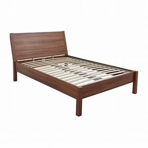 84 off ikea ikea queen wooden platform bed frame beds for Bed frame shops