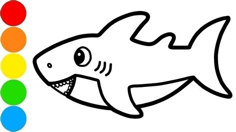 baby shark drawing  coloring  kids  paint youtube