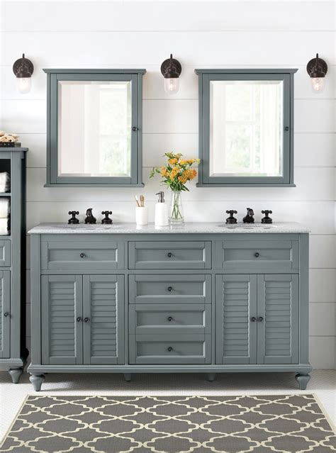 Bathroom Vanity Mirrors With Storage by Home Decorators Collection Hamilton 61 In W X 22 In D