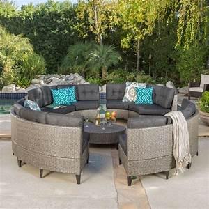 Currituck Outdoor Wicker Patio Furniture Piece Black ...
