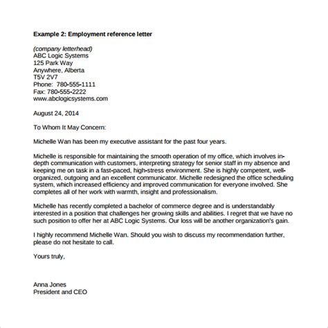 professional reference letter    documents